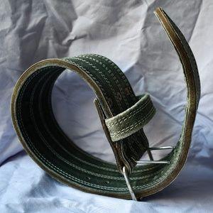 Antique powerlifting belt, suede